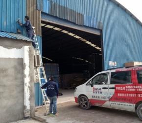 重庆监控,铃友物流公司仓库监控摄像头安装工程